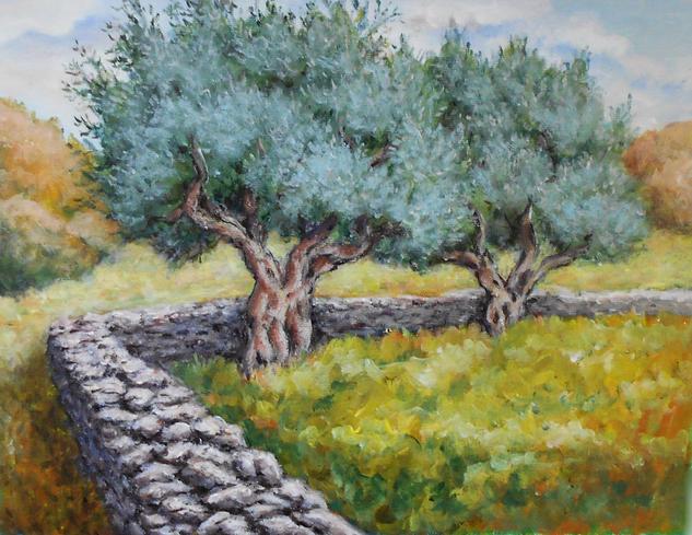 Olive trees Paisaje Acrílico Lienzo