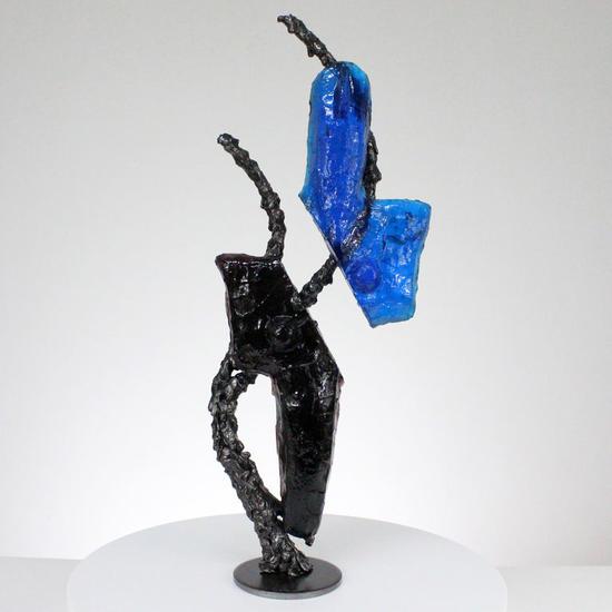 Ídolo CLXVI - Escultura cuerpo de metal acero y pasta de vidrio Mixta Metal