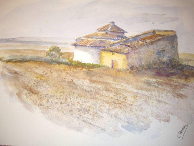 PALOMARES   ( VILLAVICENCIO DE LOS CABALLEROS)acuarela               la Cartulina Acuarela Paisaje