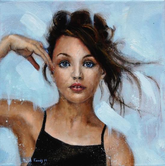 Portrait Maddie 2019 Portrait Oil Canvas