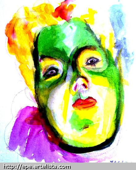 Madamme Lautrec-2 Retrato Media Mixta Lienzo