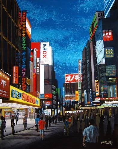 Akihabara, Tokyo #1 Tabla Otros Paisaje