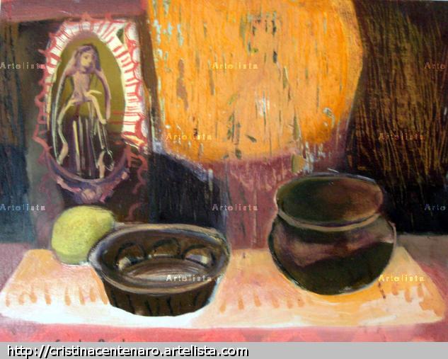 Altar casero Otros Óleo Bodegones