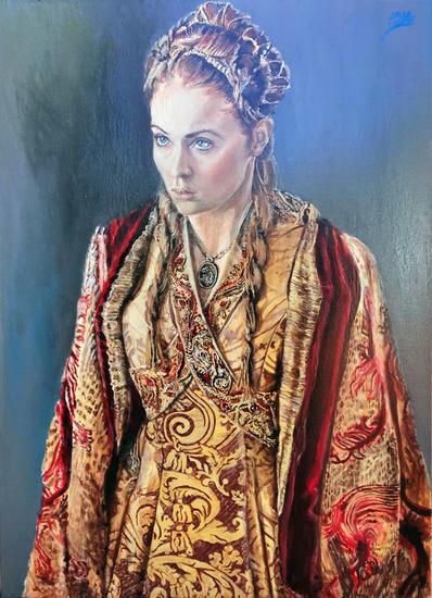 El Desasosiego (de Sansa) 2.0 Retrato Acrílico Lienzo