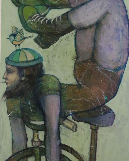 De ruedas y alas Figura Acrílico Lienzo
