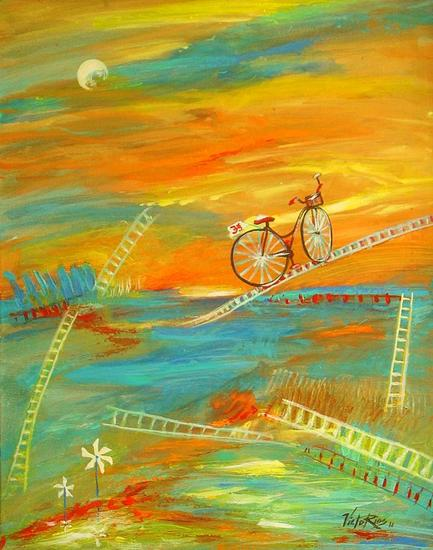 THE BICYCLE #10. MENOPAUSE. Acrílico Lienzo Otros