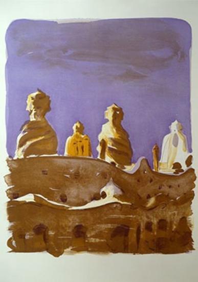 LAS CHIMENEAS DE LA PEDRERA (Jaume Roure) Litografía