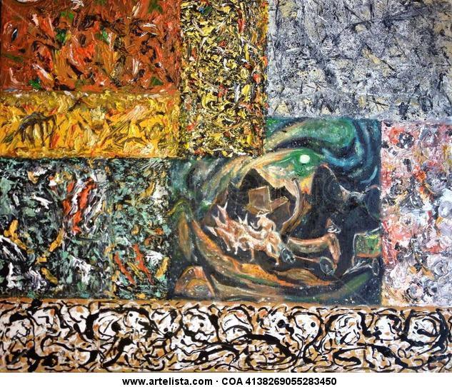 Homenaje a Pollock 10 Lienzo Óleo Otros