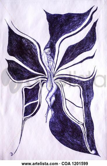Papillon Huecograbado
