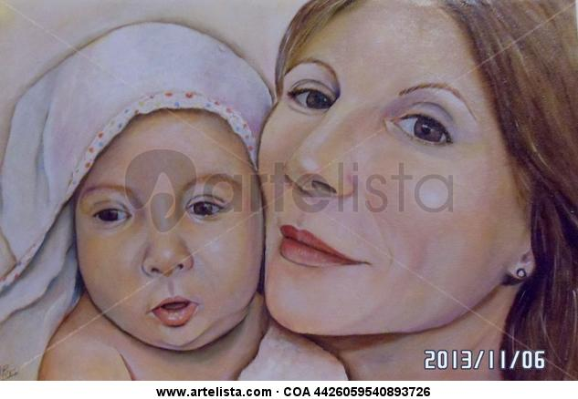 MATERNITAT Portrait Canvas Oil