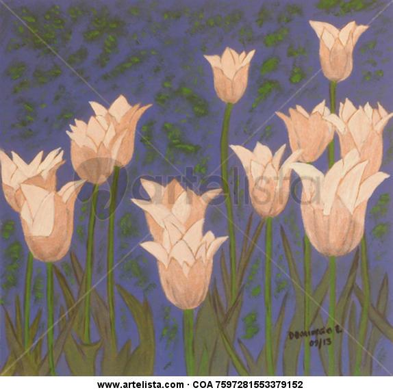 SIN NOMBRE Floral Óleo Tabla
