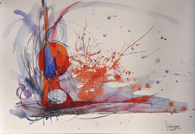 ABSTRACTION 6 Otros Papel Gouache