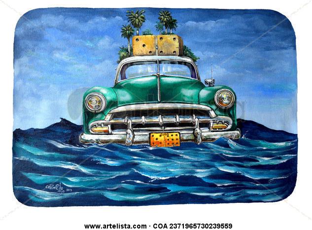 El Carro II Marine Painting Acrylic Canvas