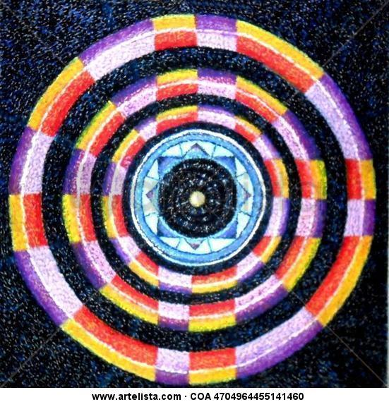 Mandala Figura Pastel Tabla