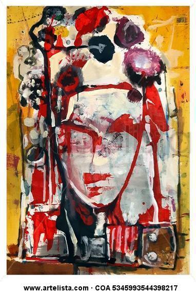 Flower lady Acrílico Papel Retrato