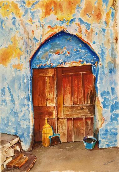puerta y color