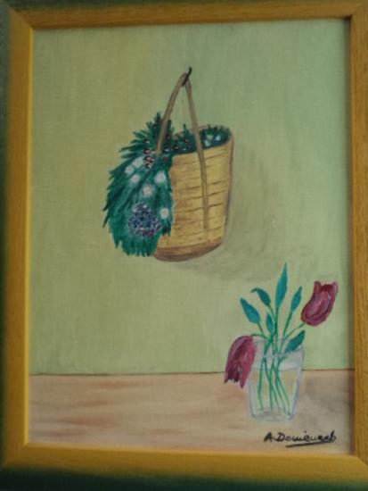 cesta y flor