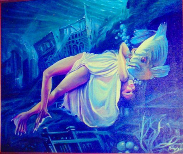 La mujer pisciforme Óleo Lienzo Figura