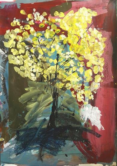 SUPERPOSICIÓN 4 Papel Acrílico Floral