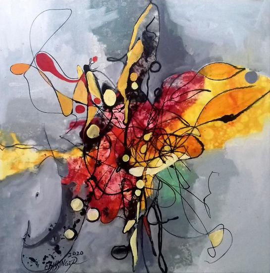 The thirst for a star,abstract Bissinger Otros Óleo Lienzo