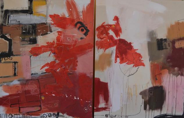Rojo Acrylic Others Canvas