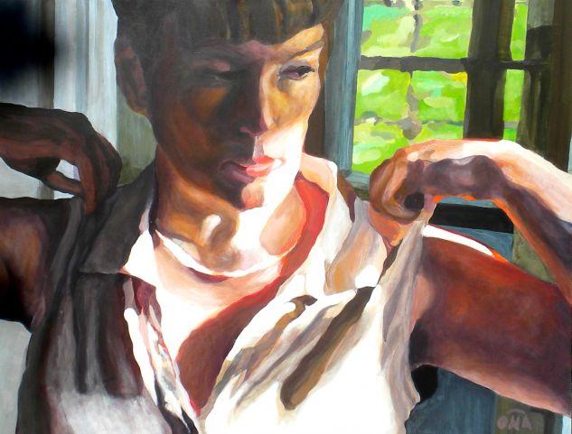 El sueño de Marcela - Marcella´s dream Acrílico Tabla Retrato