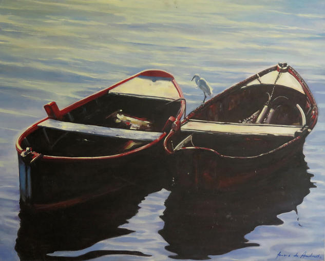 Búzios Boats Lienzo Óleo Marina
