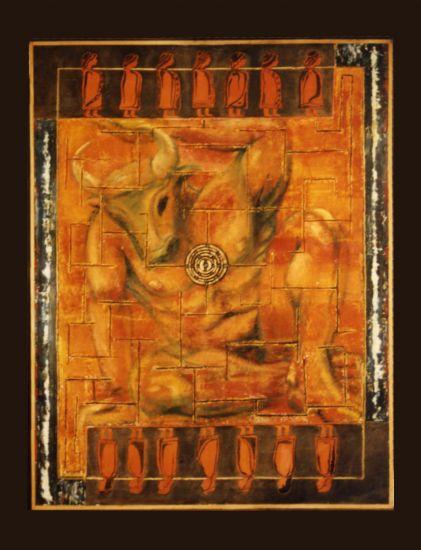 el minotauro en el laberinto