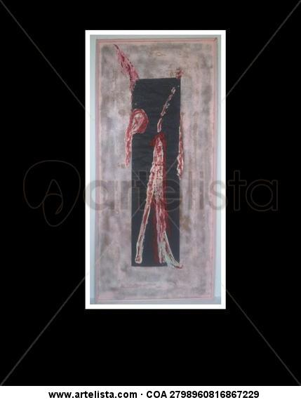 Look Up & Mira Arriba Retrato Grafito Tabla