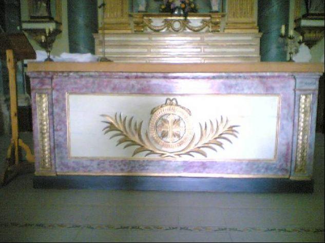 Restauración Altar Santa Ana Mármol Muebles y Objetos de Madera
