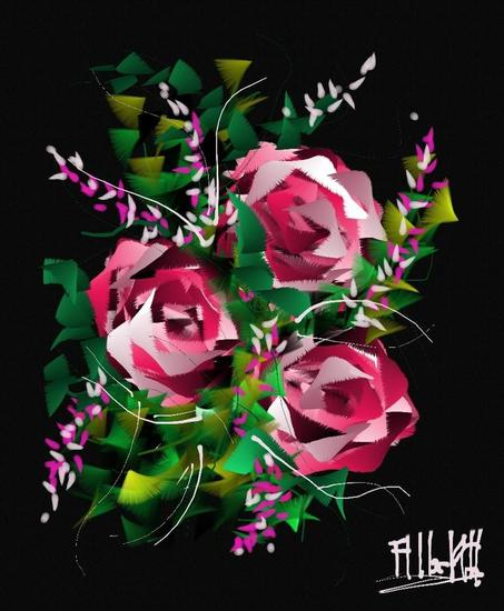 Flor Vanesa rosa