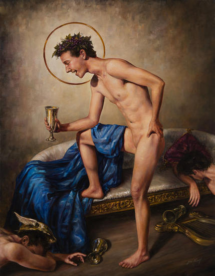 Bachus Invictus Canvas Oil Nude Paintings
