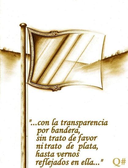 La bandera de la transparencia quimericas x quim paneque - Baneras de obra ...
