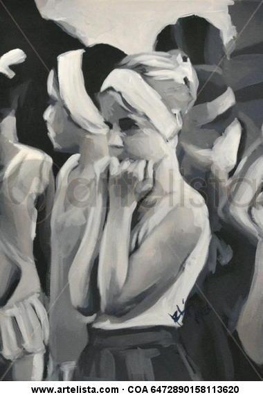 Clases de ballet Cartulina Óleo Figura