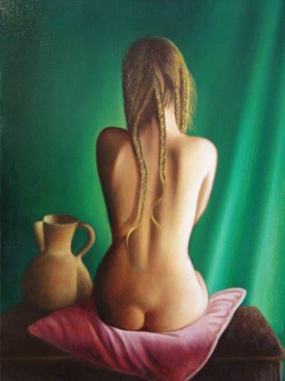 Desnudo espaldas Óleo Lienzo Desnudos