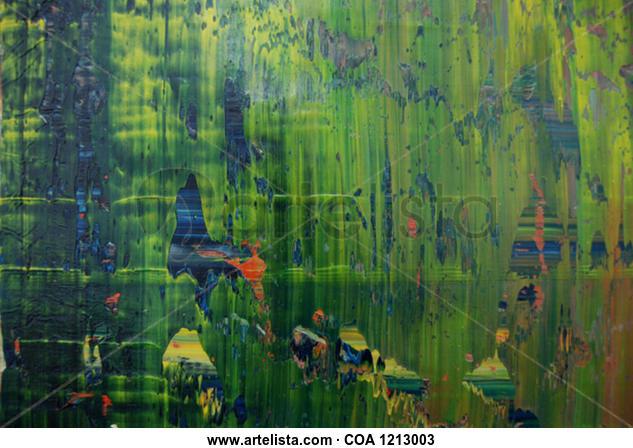 Abstract Paisaje Óleo Lienzo