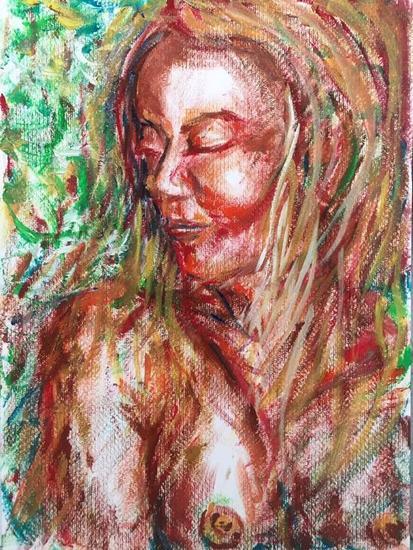Kanokkorn Portrait Oil Paper