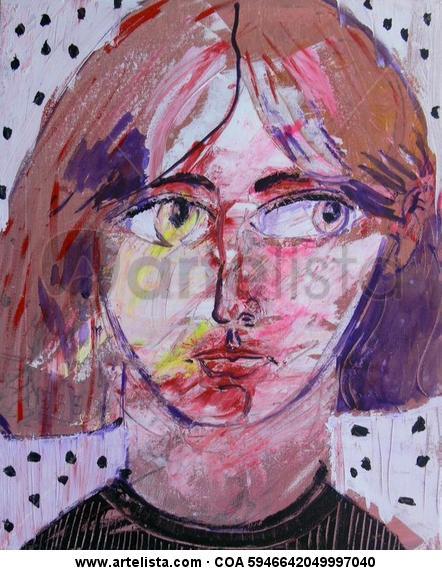 Retrato del inconsciente Lienzo Acrílico Retrato