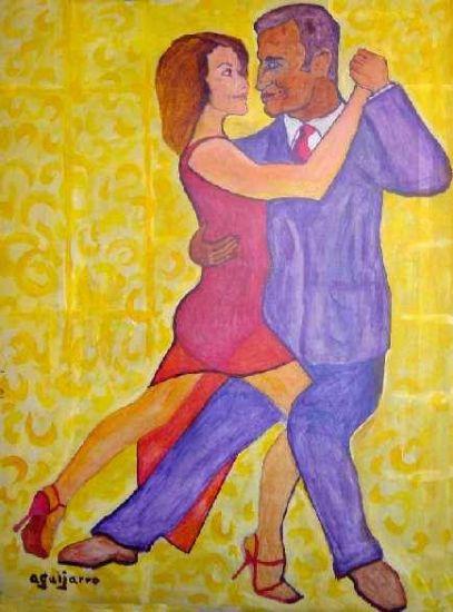 Tango Asturiano - Don Felipe de Borbón y Dª Letizia Ortiz Rocasolano Acrílico Tabla Retrato