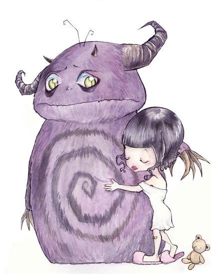Los monstruos también temen Papel Otros Acuarela