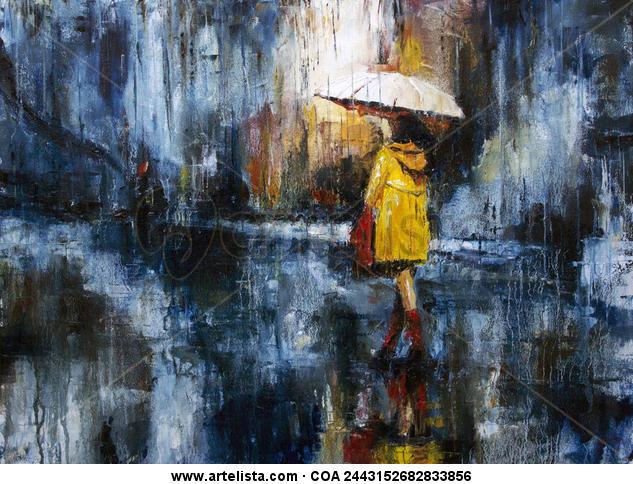 Rain again Lienzo Óleo Paisaje