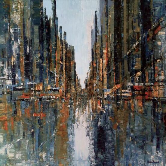 Ciudad Abstracta Landscaping Oil Canvas
