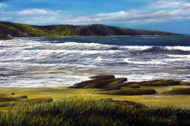 Tan sólo el mar Paper Pastel Landscaping