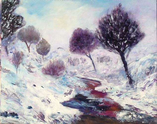 Esperando el invierno II Tabla Acrílico Paisaje