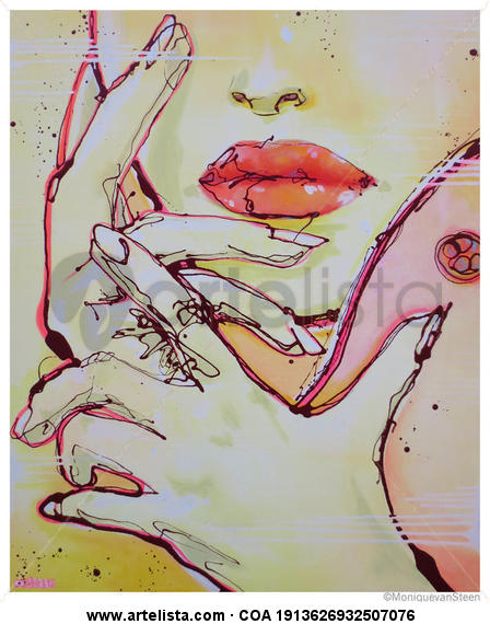 Las Manos de Georgia O'keeffe  2014 Tela Acrílico Figura