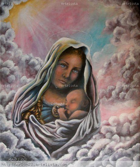 La alegria y sufrimiento de Maria Virgen Lienzo Acrílico Otros