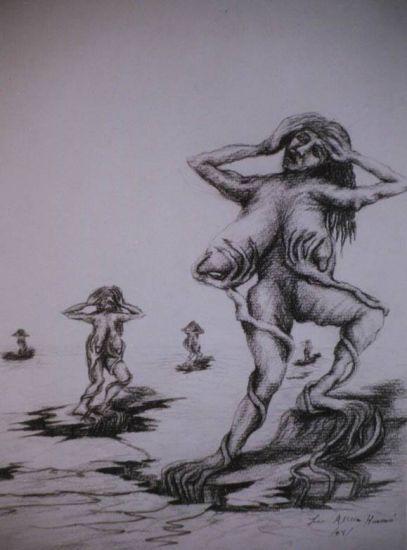 Mujeres deformes Lápiz (Negro) Cartulina Otros
