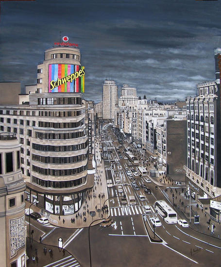 De Madrid al cielo Lienzo Óleo Paisaje