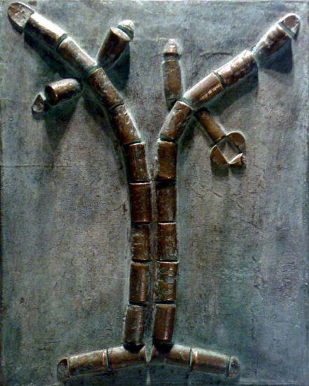 Cork II Bronze Abstract