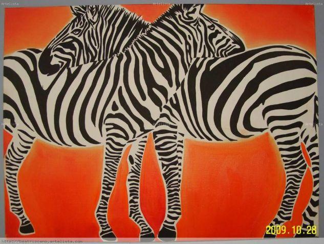 Cebras 03 beatriz cano martinez - Cuadros de cebras ...